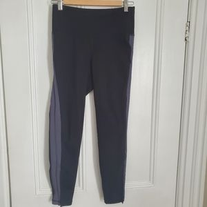 Old Navy Active Leggings -Black with Grey Stripe